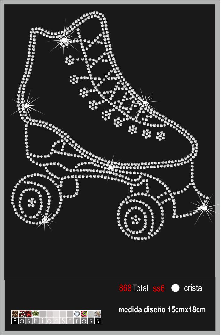 skating topic rhinestone motif 015